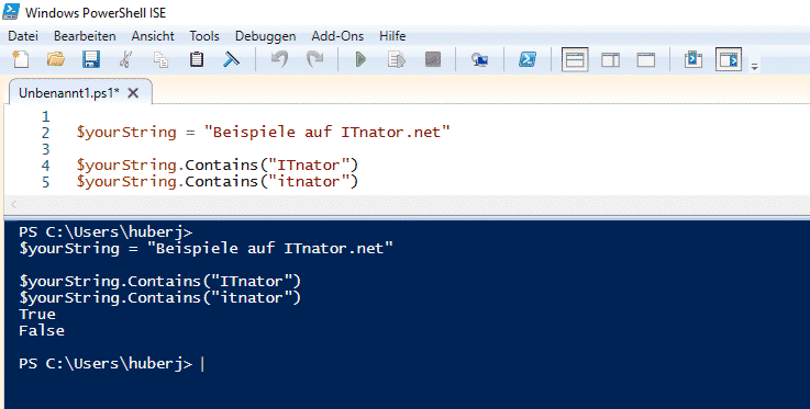 PowerShell String Contains