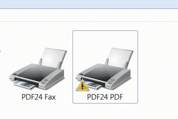 PDF24 PDF Fehler Druckauftrag nach Windows Update