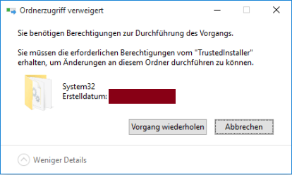 System32 Ordner löschen