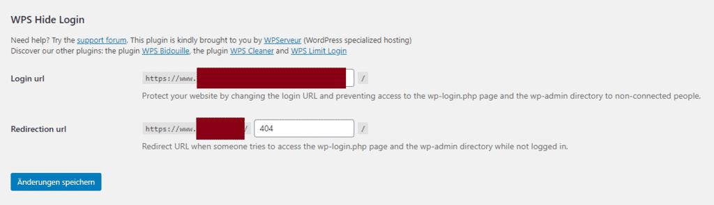 Wordpress Login URL ändern verstecken