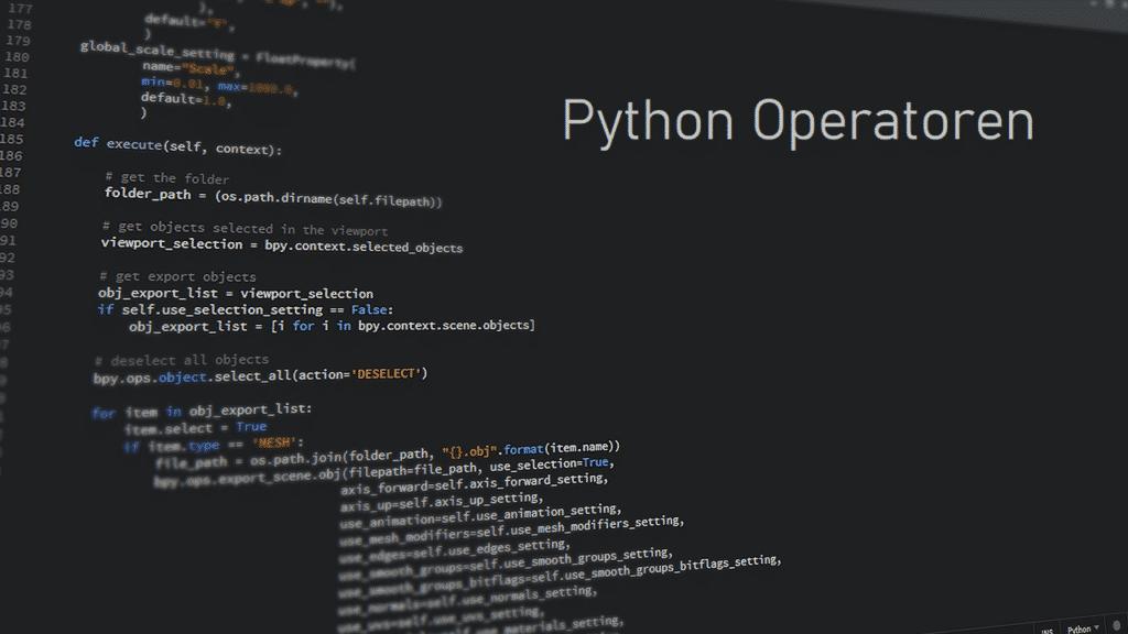Operatoren in Python