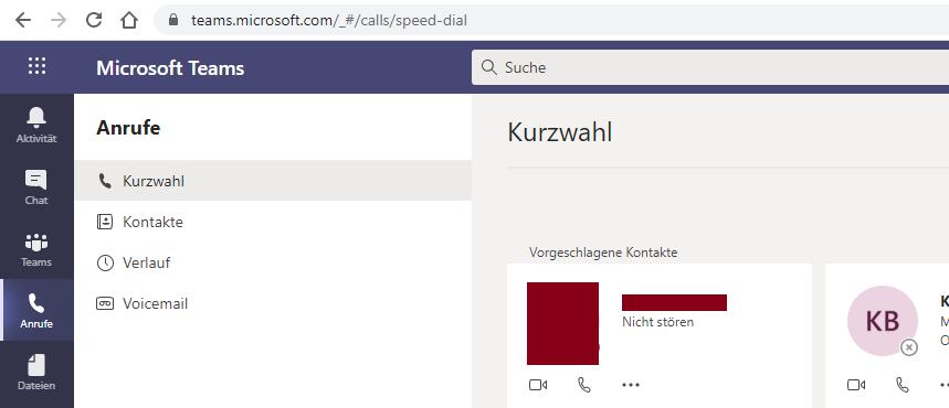 Teams Web-Browser