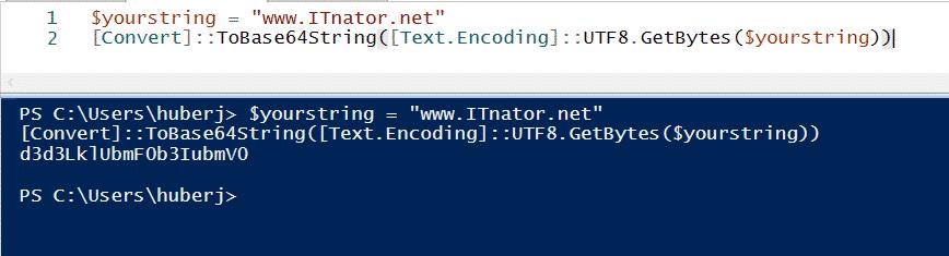 PowerShell UTF8 in Base64