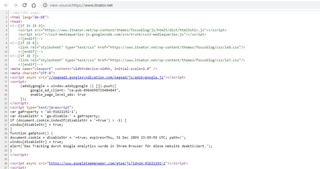 Internet Programmiersprache