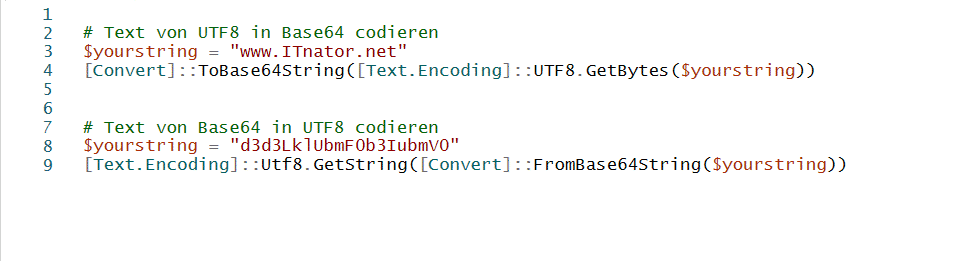 PowerShell Text codieren decodieren