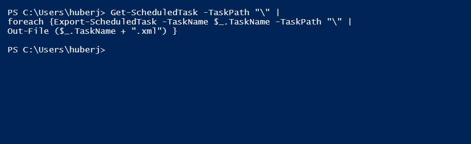 Task exportieren PowerShell