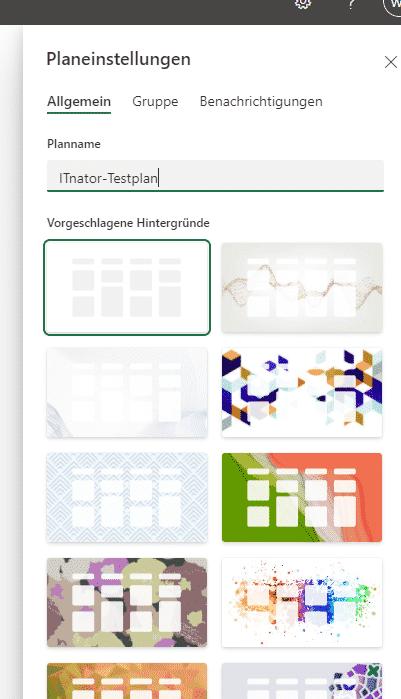 Microsoft Planner Hintergrund-Bild