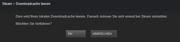 Steam Downloadcache leeren