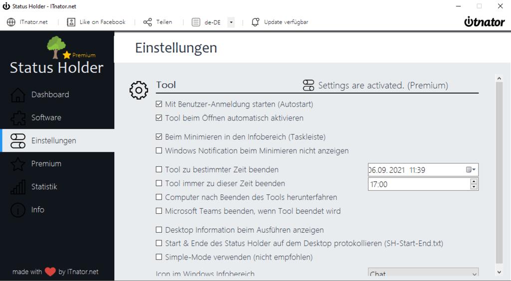 Status Holder User Tracking verhindern