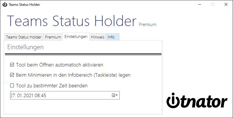 Teams Status Holder Premium